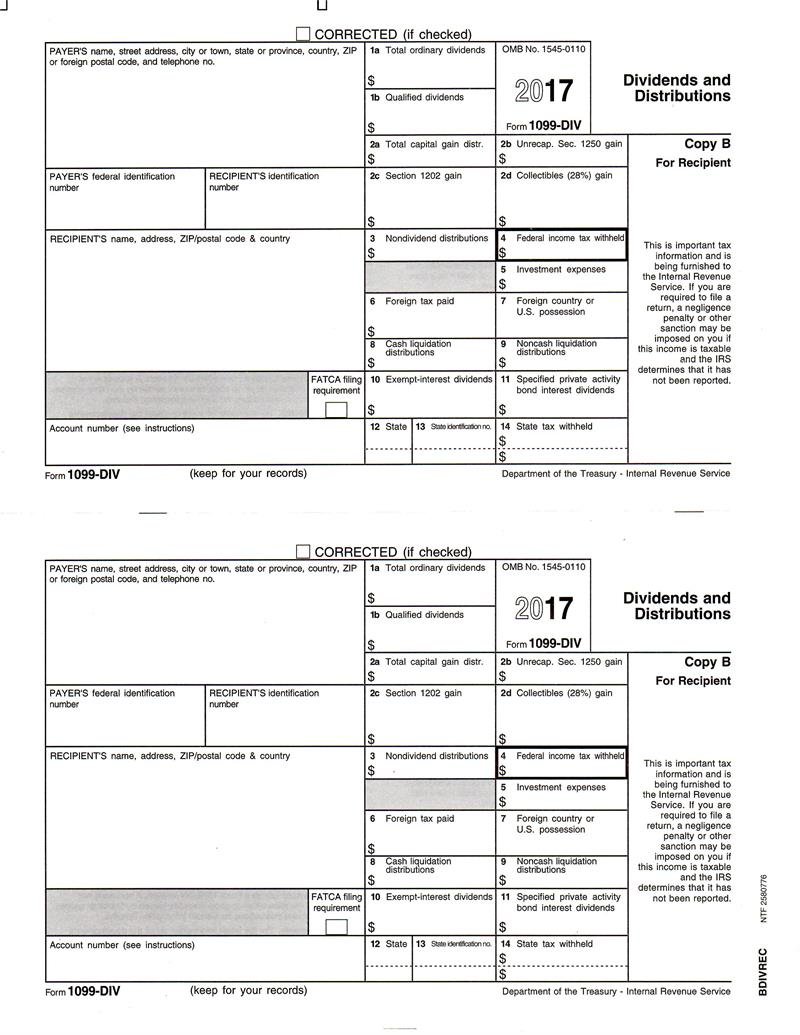 Form 1099 div recipient copy b form 1099 div dividends and distributions recipient copy b falaconquin