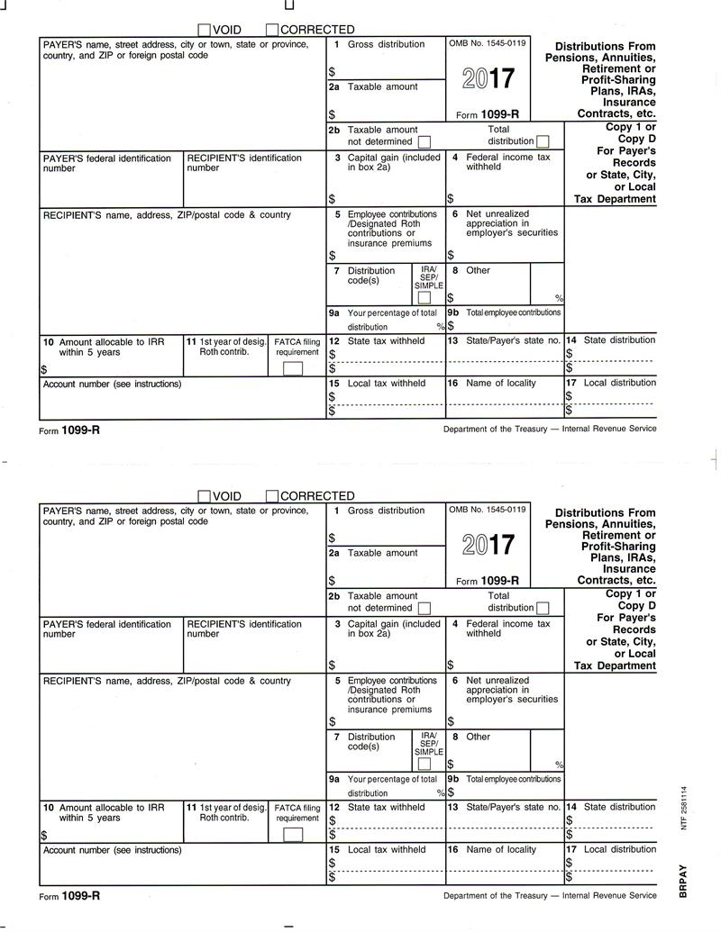 Form 1099 r distributions from pensions annuities retirement or form 1099 r distributions from pensions annuities retirement or profit sharing plans statelocal copy 1 or filer copy d falaconquin