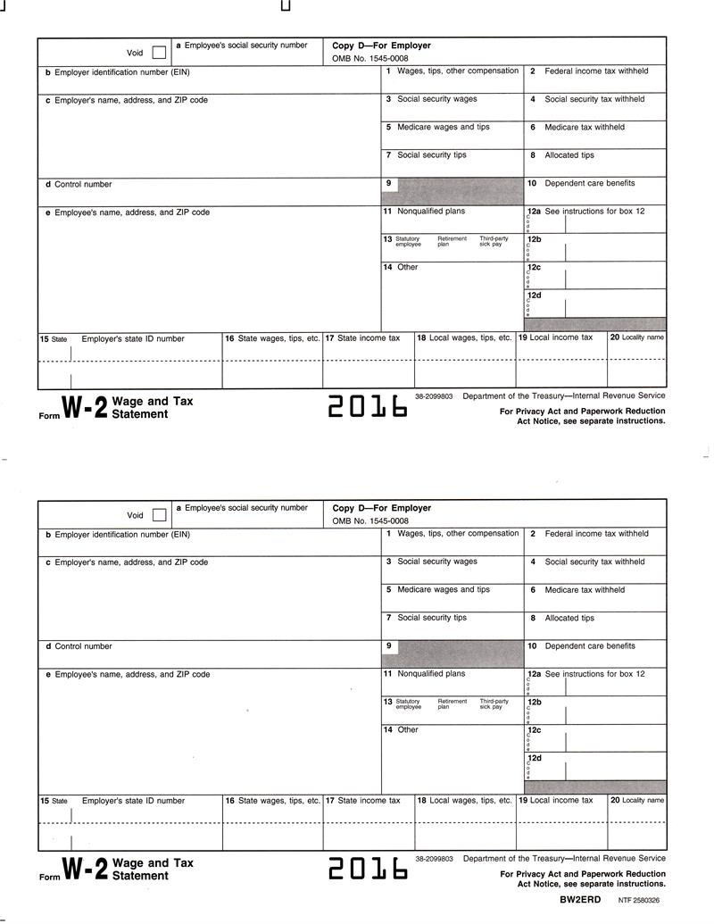 employer tax forms w 9