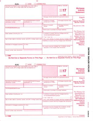 Form 1098, Mortgage Interest Statement