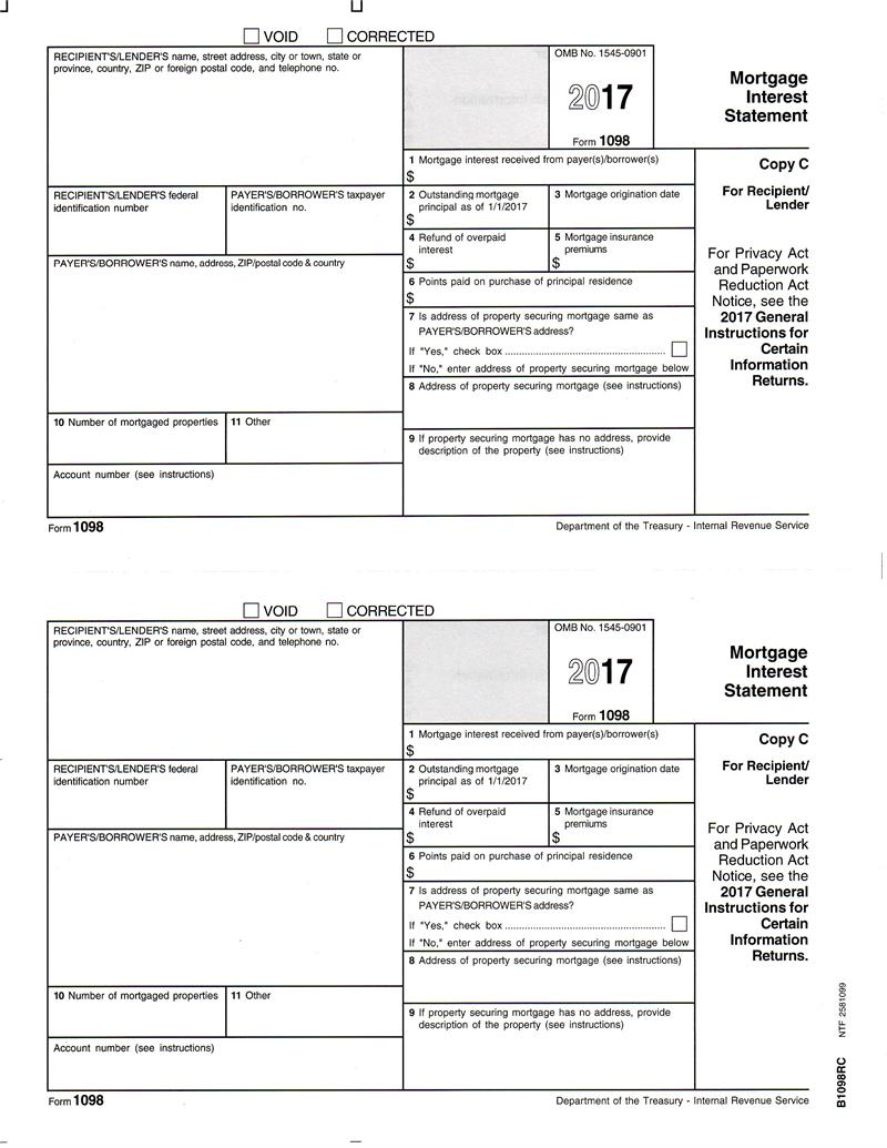 1098COPYC.3 Tax Form Example on mortgage interest2019, statement for new construction, clip art, printable federal,