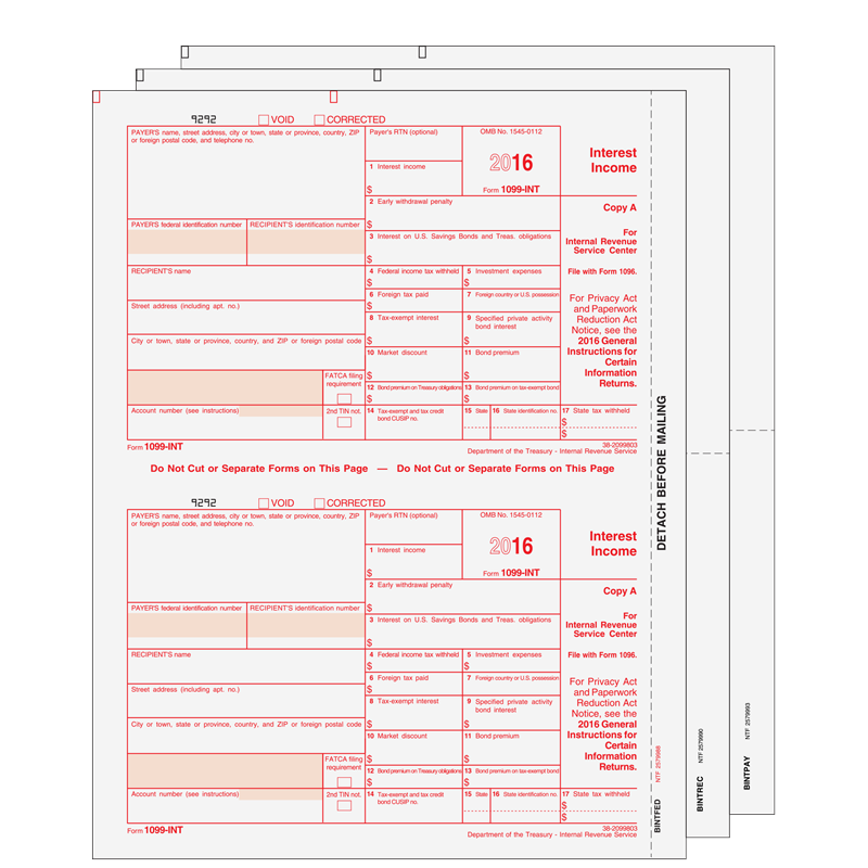 Form 1099 Int