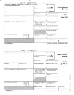 1099-MISC State Copy 1